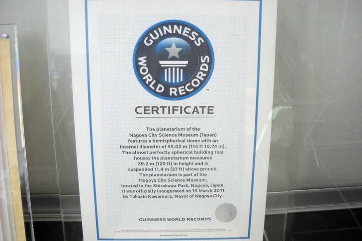ギネス世界記録認定証